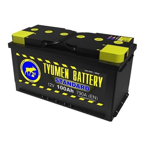 Аккумулятор Тюмень STANDARD 6СТ - 100 L (п.п)