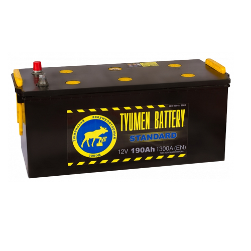 Аккумулятор Тюмень STANDARD 6СТ -190 L конус евро.