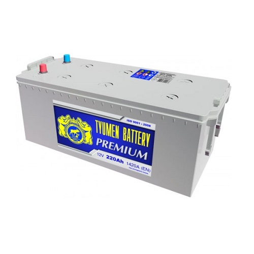 Аккумулятор Тюмень PREMIUM  6СТ - 220 L евро