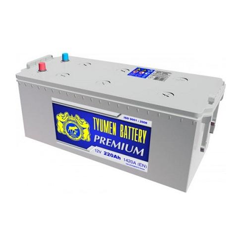 Аккумулятор Тюмень PREMIUM  6СТ - 220 L рос