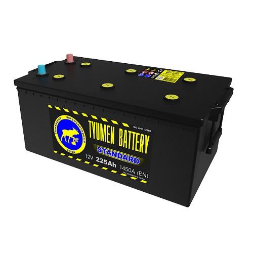 Аккумулятор Тюмень STANDARD 6СТ -225 L евро