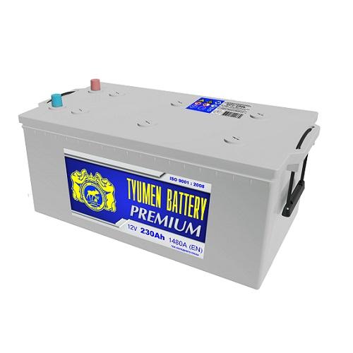 Аккумулятор Тюмень PREMIUM  6СТ - 230 L евро
