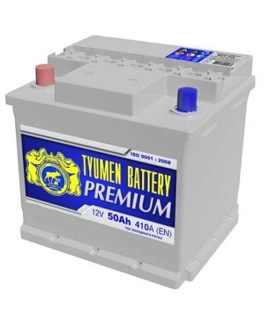 Аккумулятор Тюмень PREMIUM  6СТ -  50 L (п.п)