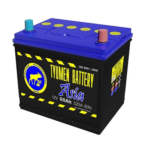Аккумулятор Тюмень АЗИЯ 6СТ - 60 L (о.п)   [D23]