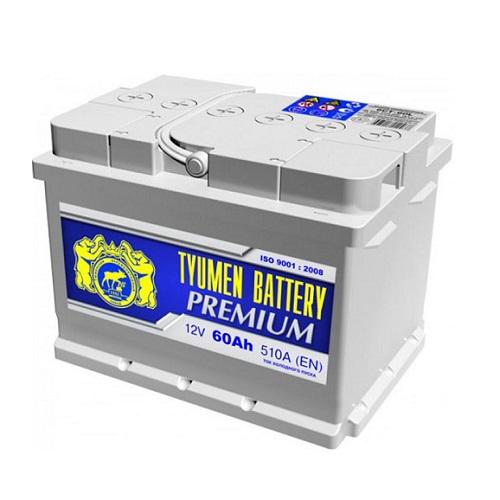 Аккумулятор Тюмень PREMIUM  6СТ -  60 L (о.п) низ.