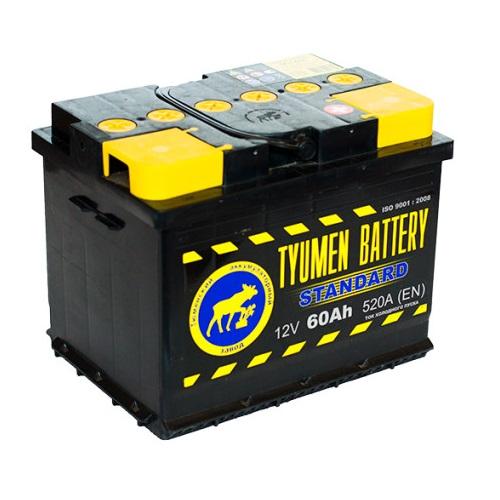 Аккумулятор Тюмень STANDARD 6СТ -  60 L (п.п)