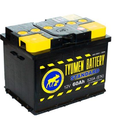 Аккумулятор Тюмень STANDARD 6СТ -  60 L (о.п)