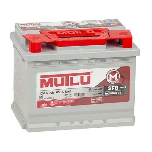 Аккумулятор Mutlu SFB M3 6СТ-63 низкий   (LB2.63.060.A)