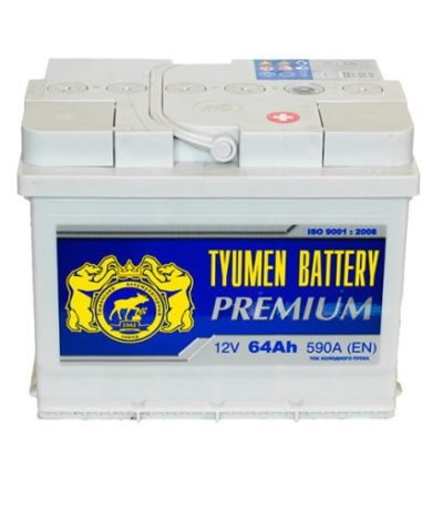 Аккумулятор Тюмень PREMIUM  6СТ -  64 L (п.п)