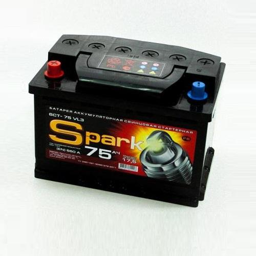 Аккумулятор SPARK 6СТ -75.0