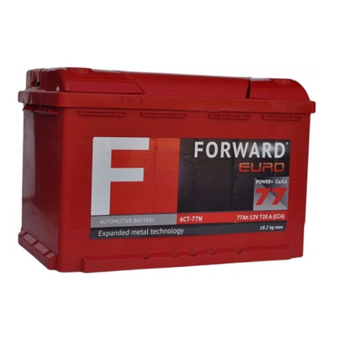 Аккумулятор FORWARD 6СТ- 77N (п.п)
