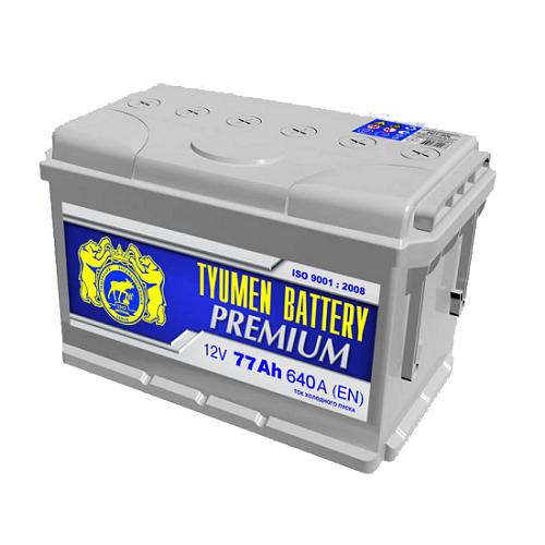 Аккумулятор Тюмень PREMIUM  6СТ -  77 L (о.п)