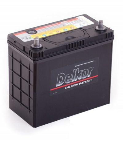 Аккумулятор DELKOR 6СТ-45 R+   япон. ст. тонк.кл.