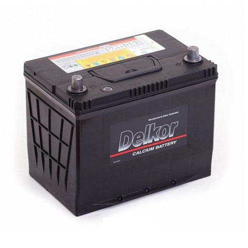 Аккумулятор DELKOR 6СТ-75 R+  япон. ст.