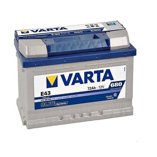 Аккумулятор Varta BD 6CT-72 R (E43) низкий (о.п.)