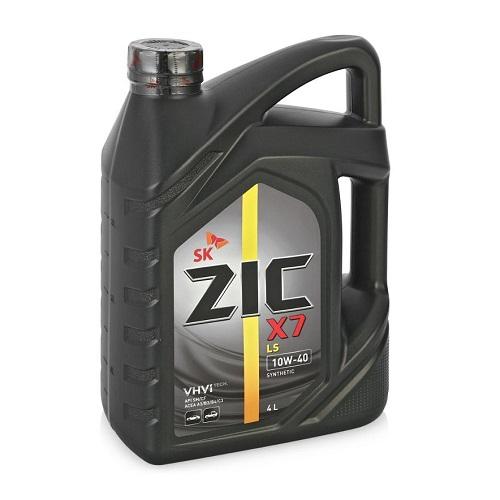 Моторное масло ZIC X7 5W-40 SN|CF A3|B4  4л