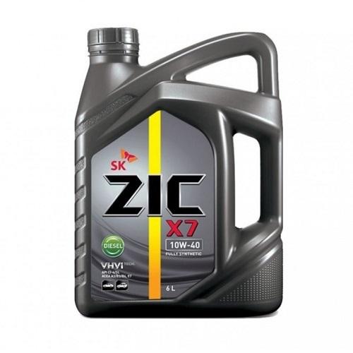 Моторное масло ZIC X7 DISEL 10W-40   6л