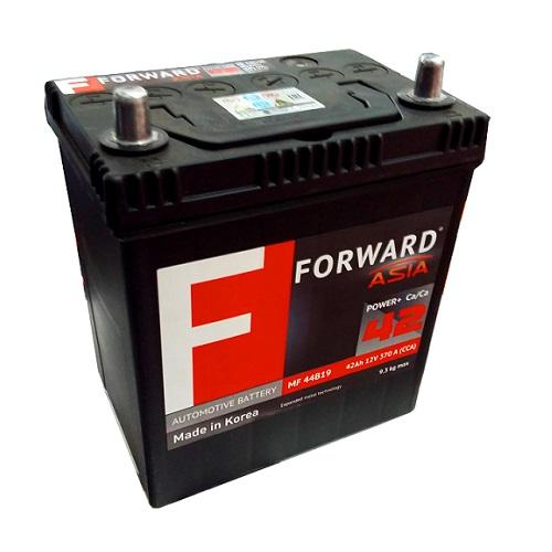 Аккумулятор FORWARD Asia MF  42 ач (п.п.)