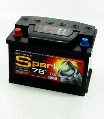 Аккумулятор SPARK 6СТ -75 ач п.п.
