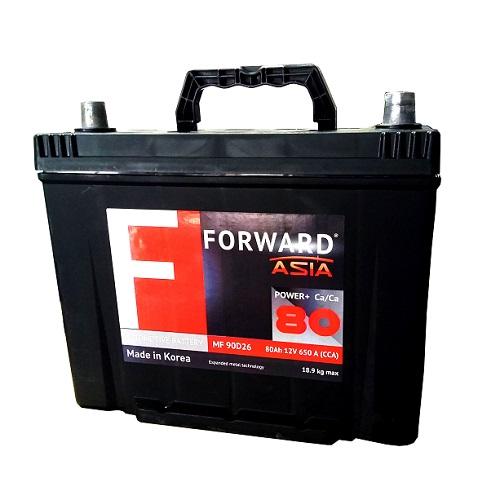 Аккумулятор FORWARD Asia MF 80 ач (п.п.)