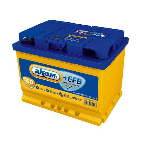 Аккумулятор AКОМ EFB 6СТ- 60 N (о.п.)