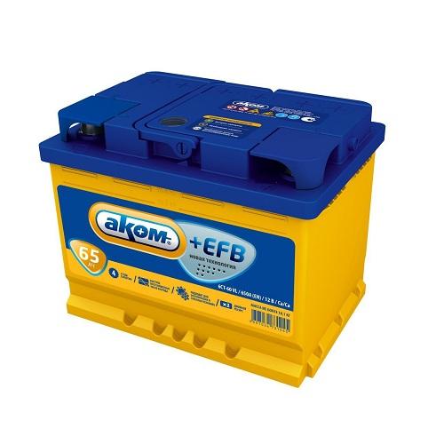Аккумулятор AКОМ EFB 6СТ- 65 N (о.п.)