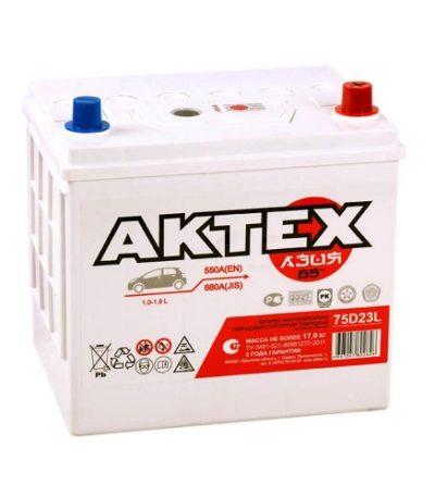 Аккумулятор АКТЕХ Asia 6СТ-65.0 LЗ (75D23L)