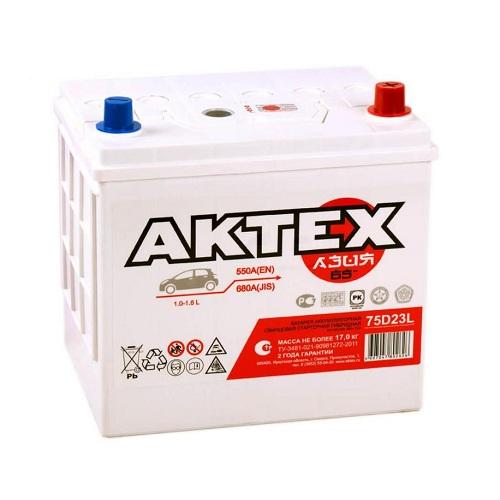 Аккумулятор АКТЕХ Asia 6СТ- 65 ач о.п. (75D23L)