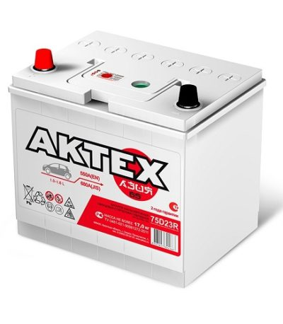 Аккумулятор АКТЕХ Asia 6СТ-65.1 LЗ (75D23R)