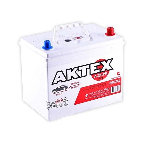 Аккумулятор АКТЕХ Asia 6СТ-70.0 LЗ (80D26L)