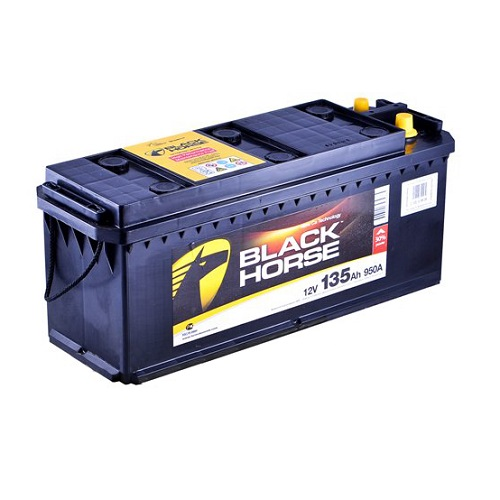 Аккумулятор Black Horse 6СТ-135 евро.конус