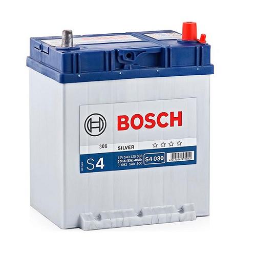 Аккумулятор BOSCH S4 40 R+ тонк.кл./бортик