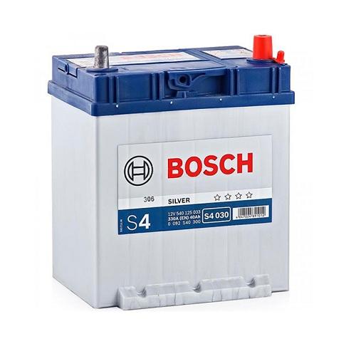 Аккумулятор BOSCH S4 40 R+ тонк.клеммы