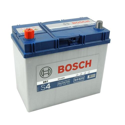 Аккумулятор BOSCH S4 45 толст.клеммы