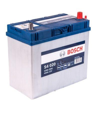 Аккумулятор BOSCH S4 45 R+ тонк.клеммы