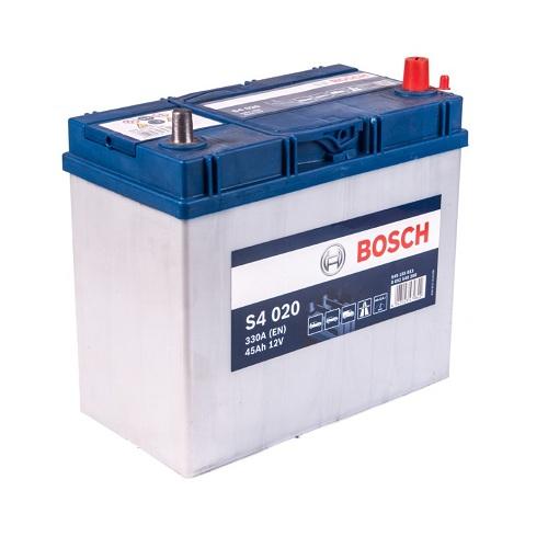 Аккумулятор BOSCH S4 45 ач о.п. тонк.клеммы
