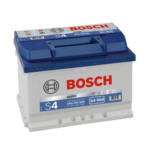Аккумулятор BOSCH S4 60 ач о.п. H175  низкий