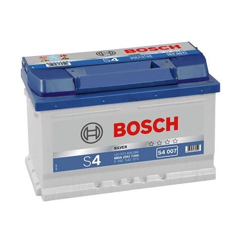 Аккумулятор BOSCH S4 72 ач о.п. низкий