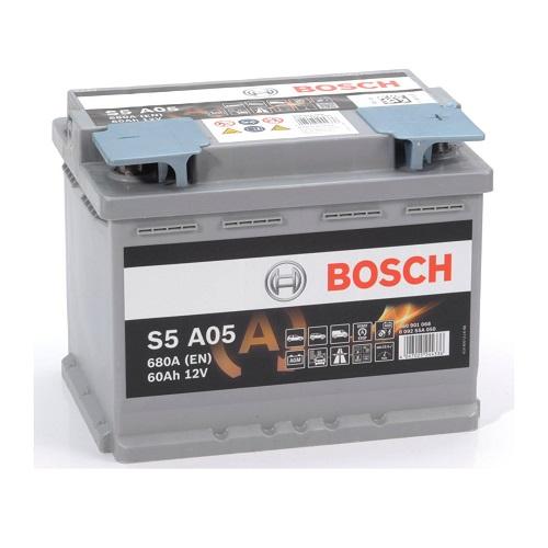 Аккумулятор BOSCH S5 60 ач о.п.  AGM