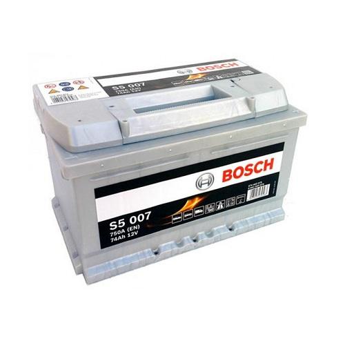 Аккумулятор BOSCH S5 74 R+ низкий