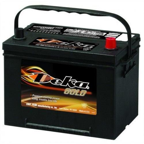 Аккумулятор DEKA 634 RMF ASIA 6СТ-75  (о.п) D26L  ниж.креп.