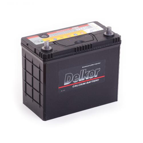 Аккумулятор DELKOR 6СТ- 45 ач  япон. ст. тонк.кл.