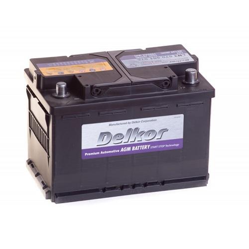 Аккумулятор DELKOR 6СТ- 70 ач (570 901 076) AGM
