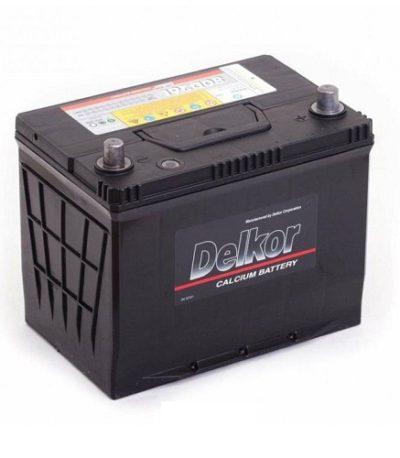 Аккумулятор DELKOR 6СТ- 75 ач R+  япон. ст.