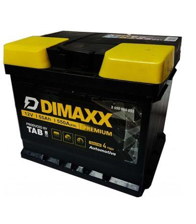 Аккумулятор DIMAXX  6СТ-  55 оп КУБИК