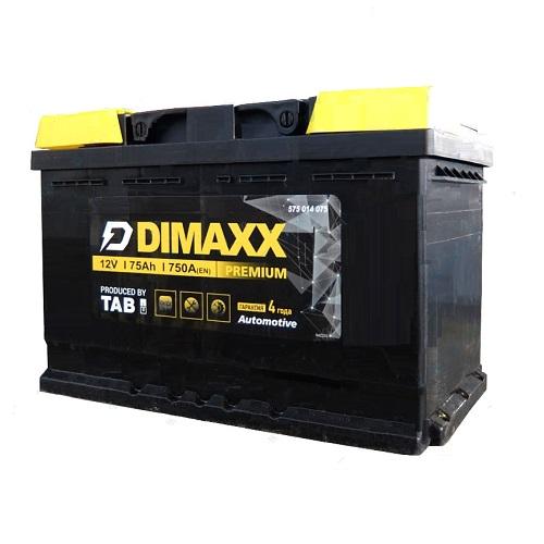 Аккумулятор DIMAXX  6СТ-  75 пп