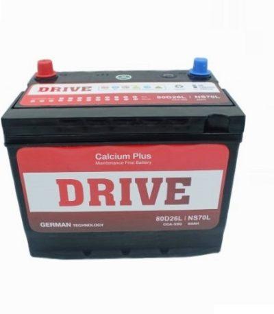 Аккумулятор Drive (80D26L) 70 (о.п) ниж.креп.