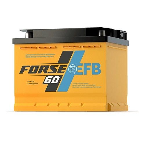 Аккумулятор FORSE EFB 60 (0) R
