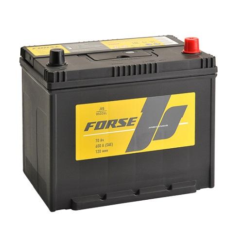 Аккумулятор FORSE (JIS) 70 VL (0) бортик