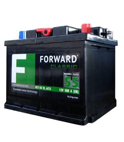 Аккумулятор FORWARD classic каз 6СТ-  55 VL АПЗ (о.п.)